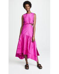 3.1 Phillip Lim - Taffeta Maxi Dress - Lyst