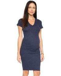 Monrow - Maternity Shirred Tee Dress - Lyst