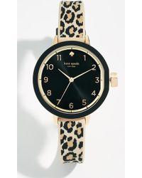 Kate Spade - Park Row Leopard Watch, 33mm - Lyst