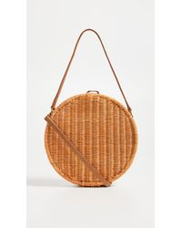Serpui - Destiny Wicker Circle Cross Body Bag - Lyst