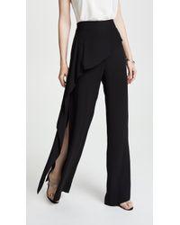 Michelle Mason - Side Drape Pants - Lyst
