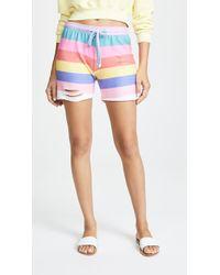 Wildfox - Castaway Stripe Shorts - Lyst