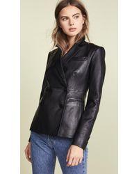 Theory - Leather Blazer - Lyst