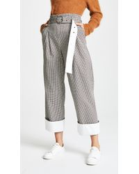 Yigal Azrouël - High Waisted Houndstooth Trousers - Lyst
