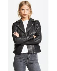 VEDA - Dallas Leather Jacket - Lyst