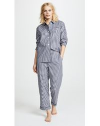 Sleepy Jones - Large Gingham Bishop Pajama Set - Lyst