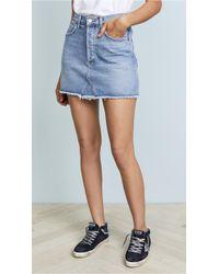 Agolde - Quinn High Rise Miniskirt - Lyst