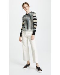 Carven - Sweater With Fancy Italian Floating Yarns - Lyst