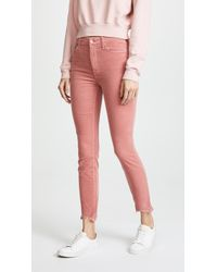 Mother - High Waisted Looker Ankle Chew Pants - Lyst
