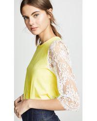 a0dd3d14d0dfa5 Lyst - Lace Tops - Women s Designer Lace Tops