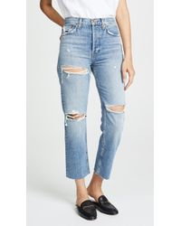 RE/DONE - Stove Pipe Jeans - Lyst
