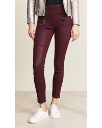 Hudson Jeans - High Rise Moto Skinny Jeans - Lyst