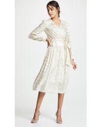 MILLY - Katy Wrap Midi Dress - Lyst
