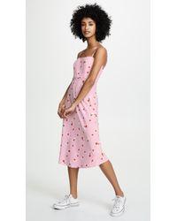 d81644aadbf Re named - Brenda Floral Midi Dress - Lyst