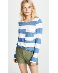 Stateside - Wide Rugby Stripe L / S Pocket Tee - Lyst