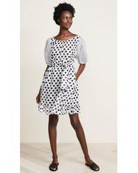 Lisa Marie Fernandez - Sheer Mini Prairie Dress - Lyst
