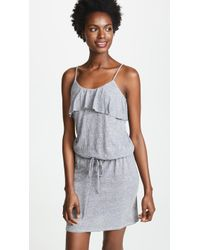 Lanston - Ruffle Tank Mini Dress - Lyst