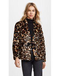 McQ - Short Leopard Coat - Lyst