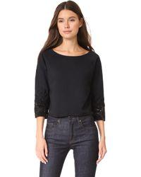 Loyd/Ford - Crop Beaded Cuff Sweater - Lyst