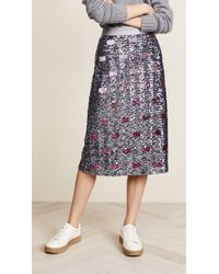 COACH - Long Embellished Skirt - Lyst