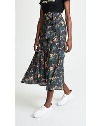 Velvet - Swan Midi Skirt - Lyst