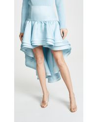 Marc Jacobs - Layered Hi-low Skirt In Pale Blue - Lyst