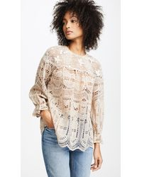 Anna Sui - Cupid's Clouds & Scallop Lace Top - Lyst