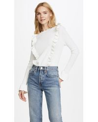Glamorous - Ruffle Front Jumper - Lyst