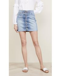 L'Agence - Portia Lace Up Skirt - Lyst