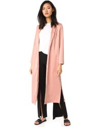 Re:named - Long Trench Coat - Lyst