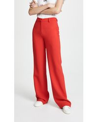 Adam Lippes - Relaxed Wide Leg Trousers - Lyst