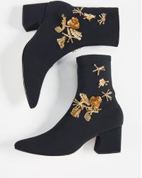 98d8133dc336 Lyst - Nicholas Kirkwood Zaha Ankle Boots in Gray