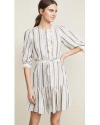 La Vie Rebecca Taylor - Long Sleeve Eyelet Stripe Dress - Lyst