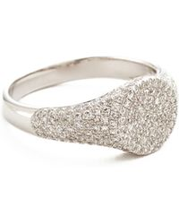 EF Collection | Diamond Signet Pinky Ring | Lyst