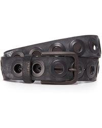 B. Belt - Gunmetal Ring Belt - Lyst