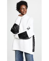 Courreges - Turtle Neck Sweater With Vinyl Detail - Lyst