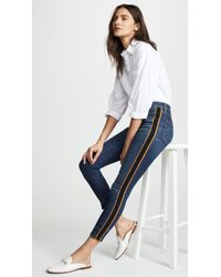 """Veronica Beard - Debbie 10"""" Skinny Jeans With Tuxedo Stripe - Lyst"""