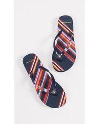 Tory Burch - Printed Thin Flip Flops - Lyst