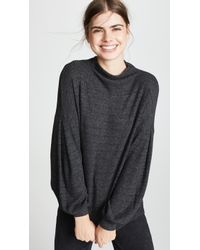 Three Dots - Chunky Heather Thermal Bell Sweater - Lyst