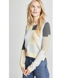 Adam Lippes - Cashmere Patchwork Sweater - Lyst