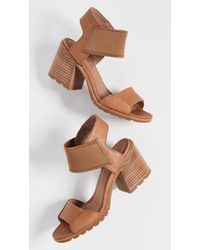 5627f842f23d Tory Burch Nadia Woven Leather Sandals in Brown - Lyst