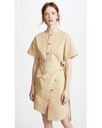 Goen.J - Asymmetric Cotton Wrap Dress - Lyst