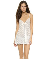 Hanky Panky - Peek-a-boo Lace Baby Doll With G-string - Lyst