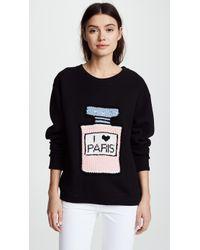 Michaela Buerger - I Love Paris Sweatshirt Black - Lyst