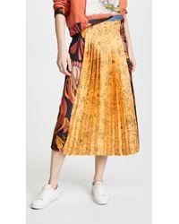 La Prestic Ouiston - Pleat Front Skirt - Lyst