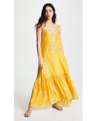 Juliet Dunn - Silk Maxi V Dress - Lyst