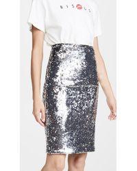 Alice + Olivia Ramos Sequin Skirt - Metallic