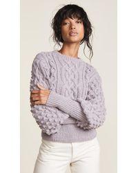 Apiece Apart - Lieve Handknit Cable Crew Sweater - Lyst