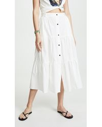 Solid & Striped - Poplin Long Skirt - Lyst