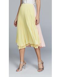 Loyd/Ford - Pleated Two Tone Skirt - Lyst